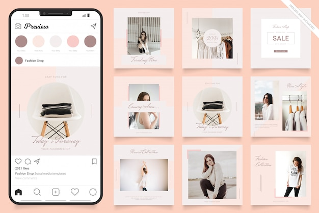 Instagram social media post banner for fashion sale promotion