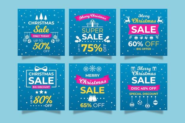 눈송이와 instagram 소셜 미디어 포스트 컬렉션 판매