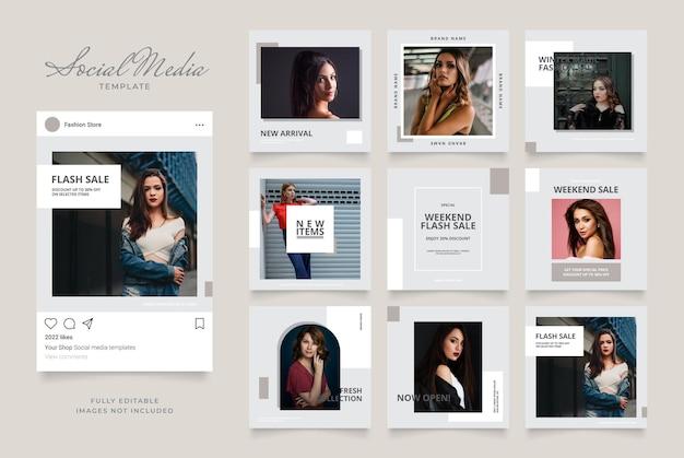 Шаблон баннера для продвижения в социальных сетях instagram