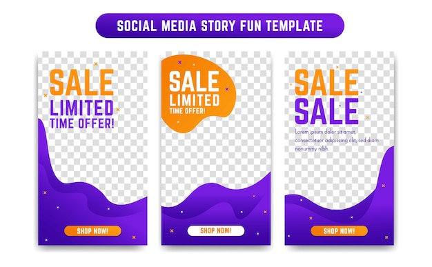 Instagram social media story design template