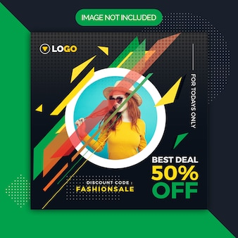 Instagram social media template for sale fashion