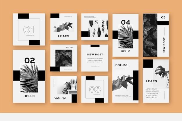 Шаблоны коллекций историй и постов из instagram