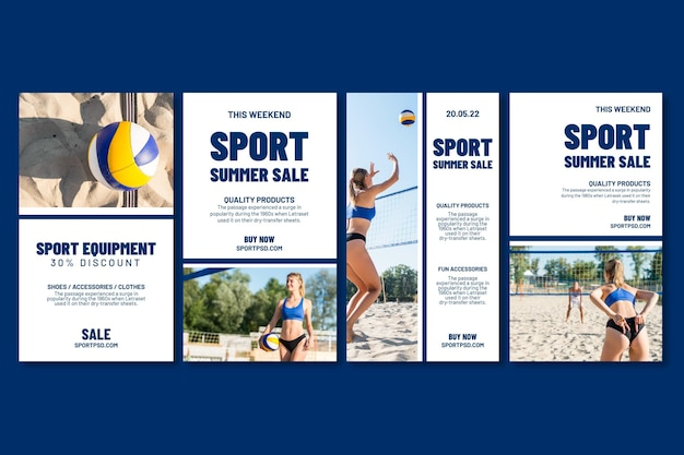 Instagram stories collection for beach volleyball