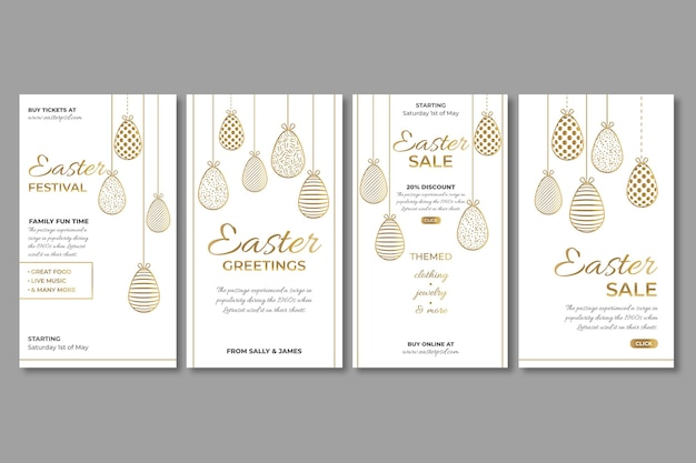 Instagram stories collection for easter sale