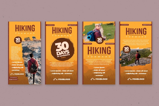 Instagram stories collection for hiking