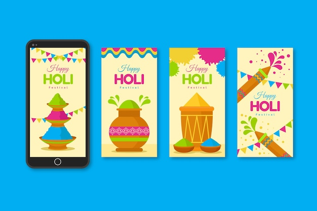 Instagram stories collection for holi festival