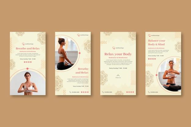 Raccolta di storie di instagram per la meditazione e la consapevolezza