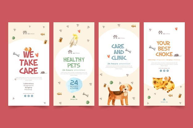 Instagram stories collection for veterinary clinic