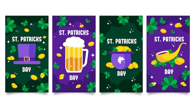 Instagram stories collection with st. patrick's day