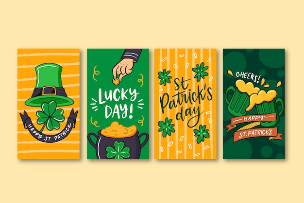 Instagram stories collection with st. patricks day design