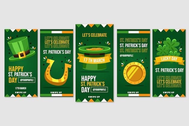 Instagram stories collection with st. patricks day theme
