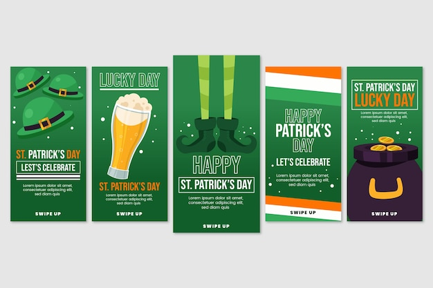 Instagram stories collection with st. patricks day