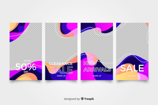 Instagram stories colorful abstract sale