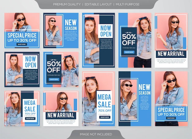 Instagram stories and feed post fashion sale template
