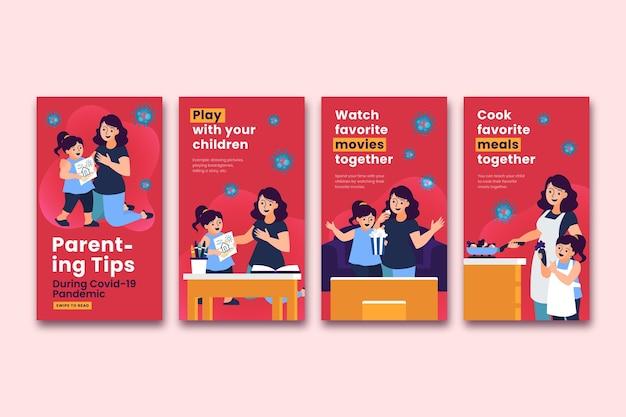 Истории из instagram для советов по воспитанию детей