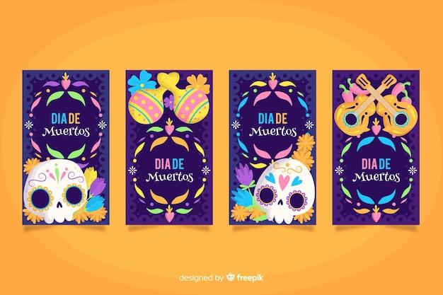 Истории из instagram для социальных сетей на dia de muertos