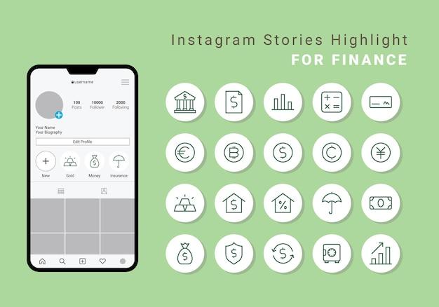 금융을 위한 instagram stories 하이라이트 커버