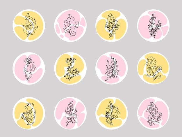 Instagram stories highlight floral
