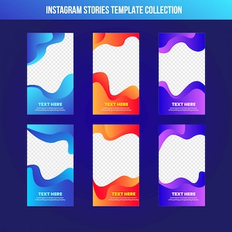 Instagram stories sale banner template gradient