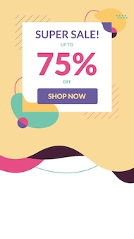 Instagram stories sale banner template