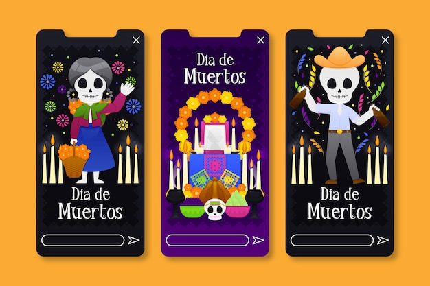 Instagram stories set day of the dead