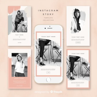 Instagram stories template design