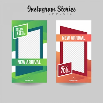 Instagram stories template sale banner premium