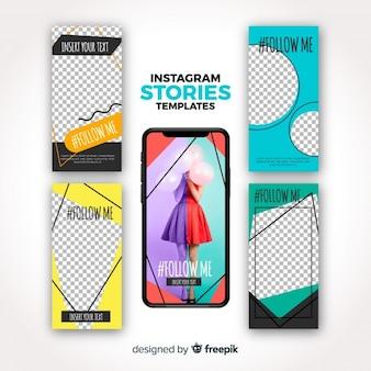 Instagram stories template set
