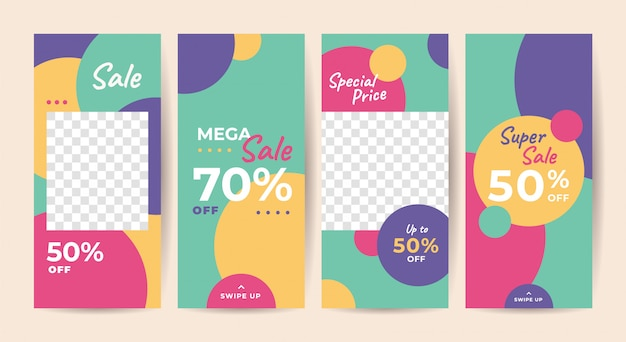 Instagram stories template, social media sale banner