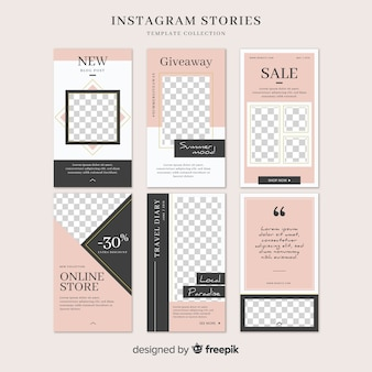 Instagram stories template with empty frame
