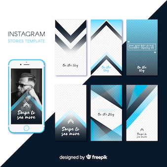 Instagram stories template