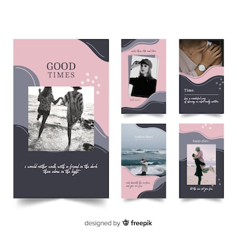 Instagram stories templates of fashion