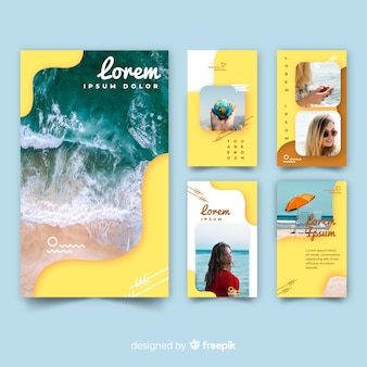 Instagram stories templates of travel