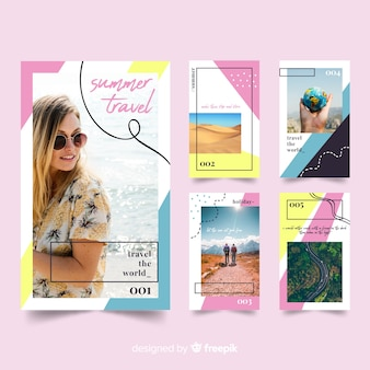 Instagram stories templates of travel