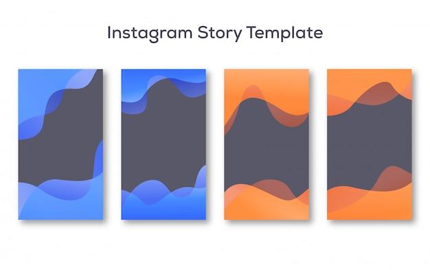 Instagram story background set