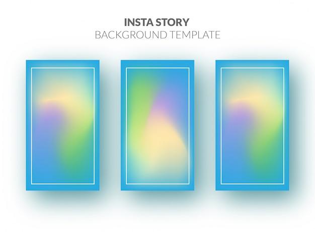 Instagram фоновый шаблон с красивым градиентом