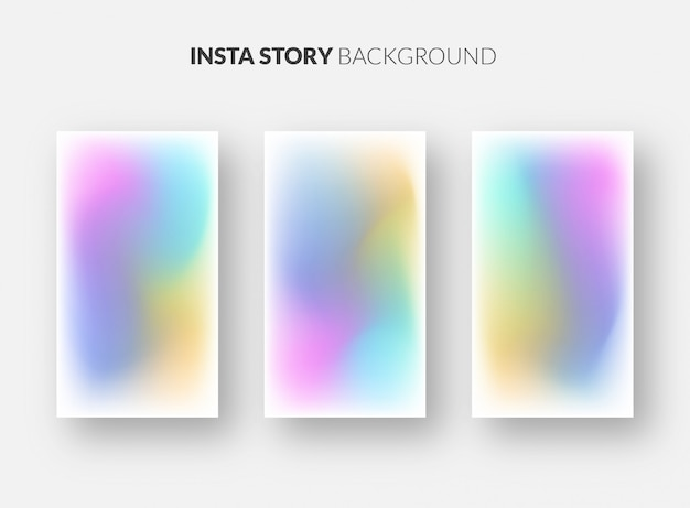 Instagram story background template with beautiful gradient
