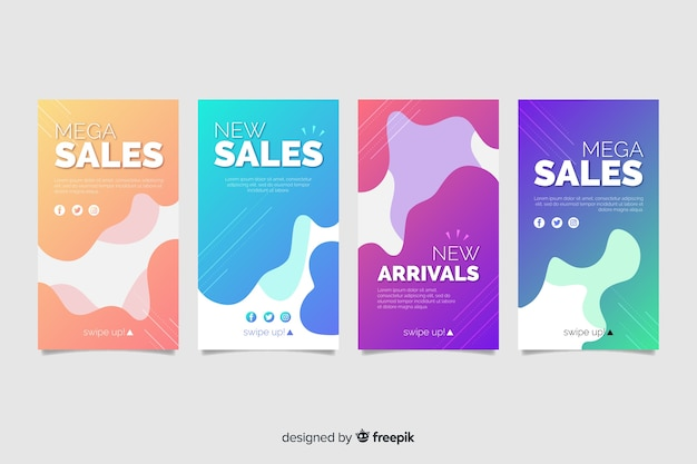 Instagram story collection abstract sale