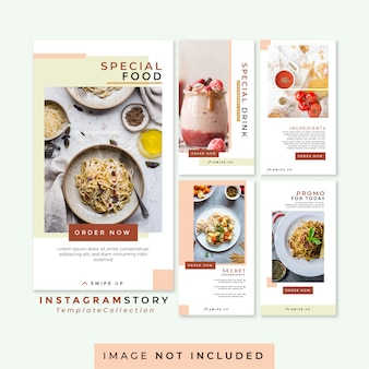 Instagram story food and beverage template collection