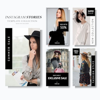 Instagram story marketing template