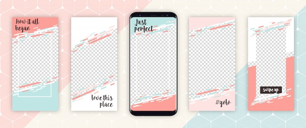 Instagram story pastel template
