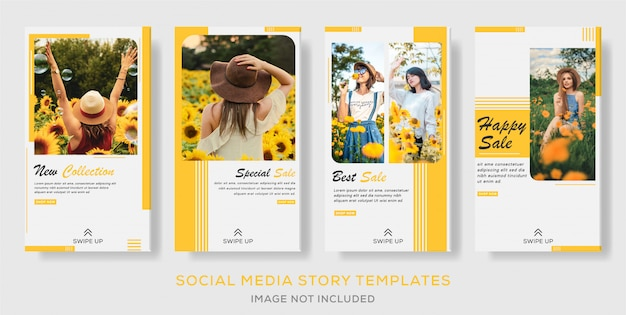 Instagram story sale social media banner template collection