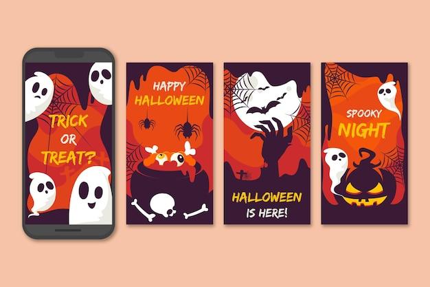 Набор историй из instagram для хэллоуина