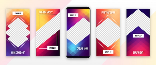 Instagram story template - colorful editable story cover design for photos