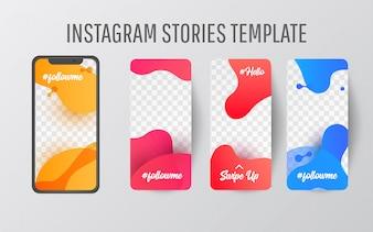 Instagram story template for social media