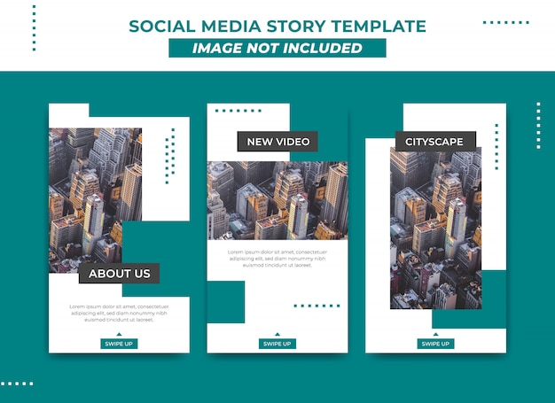 Instagram story template in modern and simple metro style