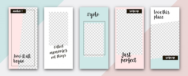 Instagram story template set