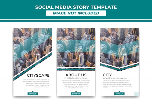 Instagram story template simple elegant modern stripe style