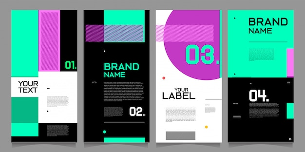 Instagram story template with modern abstract design.