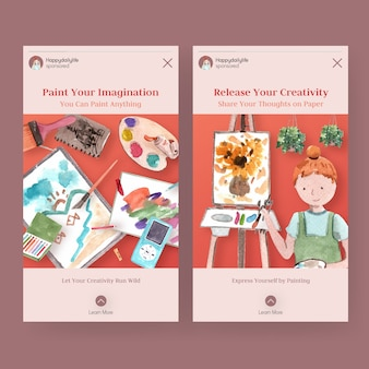 Instagram story templates for daily life